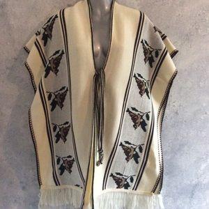 SALE 🌷Vintage Blanket Vest with Birds
